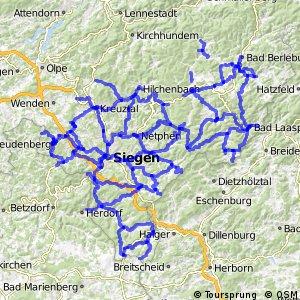 Radverkehrsnetz NRW, Kreis Siegen-Wittgenstein