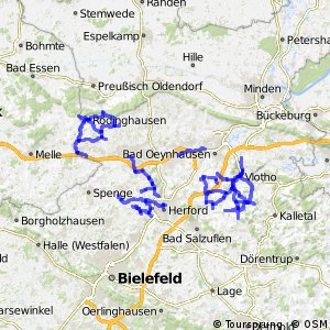 Radverkehrsnetz NRW, Kreis Herford