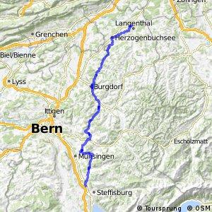 rcn 84 - Etappe 1 (Thun (Heimberg)-Langenthal)