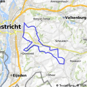 MTB route Maastricht