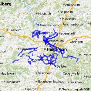 Radverkehrsnetz BW, Landkreis Heilbronn