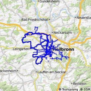 Radverkehrsnetz BW, Stadt Heilbronn