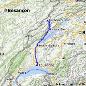 rcn 22 - Nord Vaudois-Jura (Lausanne-La Chaux-de-Fonds)
