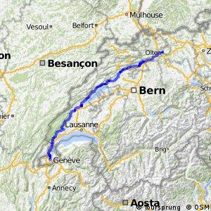 rcn 50 - Jurasüdfuss-Route (Olten-Genf)