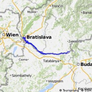 Medzinárodná dunajská cyklistická cesta - Slovensko