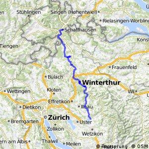 rcn 86 - Etappe 1 (Schaffhausen-Pfäffikon ZH)