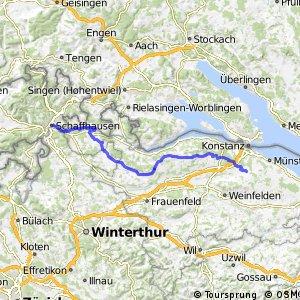 Seerückenroute - Etappe 1 (Schaffhausen-Kreuzlingen (Siegershausen))