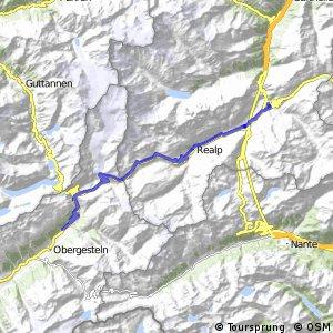 Rhone-Route - Etappe 1 (Andermatt-Oberwald)
