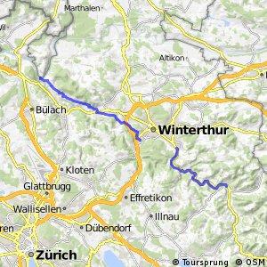 rcn 53 - Etappe 1 (Eglisau (Tössegg)-Turbenthal)