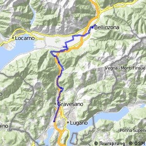 ncn 3 - Etappe 7 (Bellinzona-Agno)