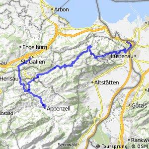 ncn 4 - Etappe 1 (St. Margrethen-Appenzell)