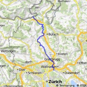 rcn 29 - Etappe 1 (Glattfelden (Rheinsfelden)-Zürich (Schwamendingen))