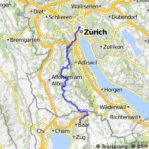 Zürich-Einsiedeln Bike - Etappe 1 (Zürich-Baar)