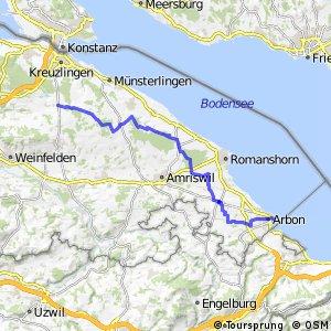 Seerückenroute - Etappe 2 (Kreuzlingen (Siegershausen) - Arbon)