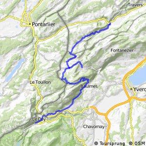 ncn 7 (Route du Jura) - Etape 5, Fleurier–Vallorbe