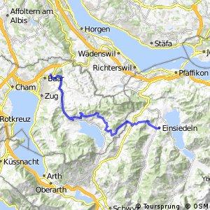 Zürich-Einsiedeln Bike - Etappe 2 (Baar - Einsiedeln)