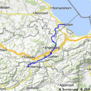 rcn 75 - Obstgarten-Route (Arbon - Nesslau)