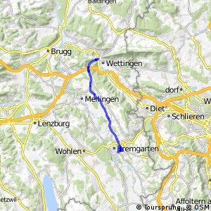 Bremgarten - Fislisbach - Baden
