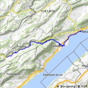rcn 94 - Etappe 1 (Fleurier - Neuchatel)