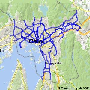 Hovedsykkelveier i Oslo