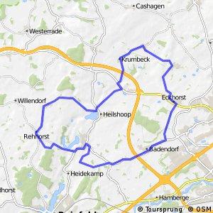 Tour 1, Radwander-Rundweg, Stormarn