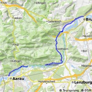 Aarau-Brugg (Aare links)