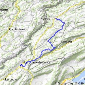 ncn 7 - Etappe 3 (Saignelégier-La Chaux-de-Fonds)