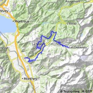 rcn 68MTB - Alpes de la Région du Léman Bike (Etape 1 Aigle—Les Diablerets)