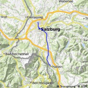 Tauernradweg - Variante Salzburg rechtes Ufer