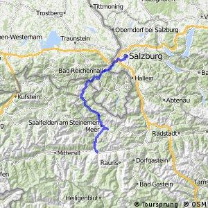 Tauernradweg, Etappe Salzburg - Zell am See