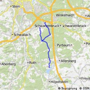 Radwanderweg-Ludwigskanal-Rothsee