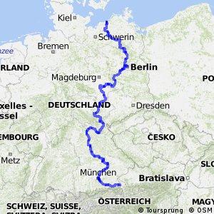 Radweg D11 Ostsee-Oberbayern