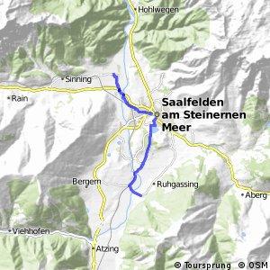 Tauernradweg, Variante Saalfelden