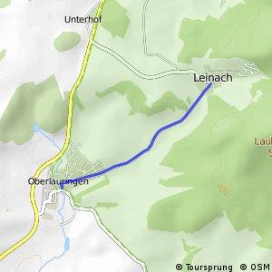 Oberlauringen Mitte - Leinach