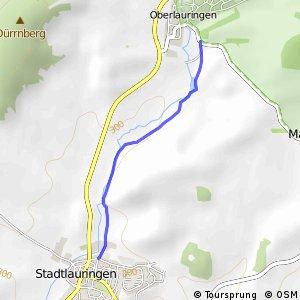 Stadtlauringen Sportplatz - Oberlauringen Süd