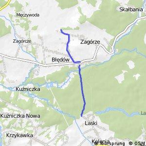 Czarny Szlak Rowerowy - Dąbrówka - Laski