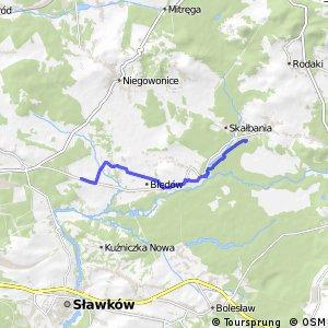 Czarny Szlak Rowerowy - Okradzionów - Chechło