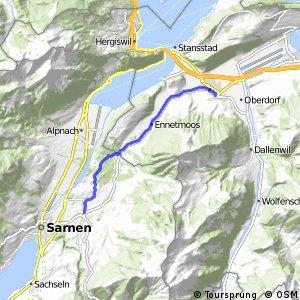 rcn 85 Unterwaldenroute - Etappe 1 (Giswil-Stans)