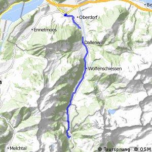 Unterwaldenroute - Etappe 2 (Stans-Engelberg)