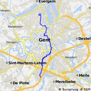 Noord-Zuidfietsroute Gent