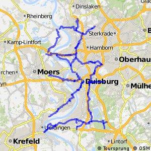 Radverkehrsnetz NRW, Stadt Duisburg