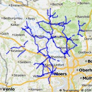 Radverkehrsnetz NRW, Kreis Wesel