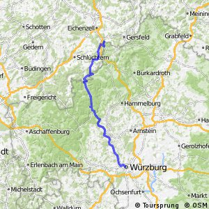 [D9] Weser-Romantische Straße [Bayern: Fulda - Würzburg]