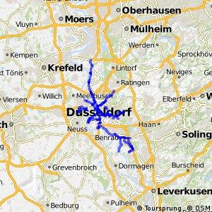 Radverkehrsnetz NRW, Stadt Düsseldorf