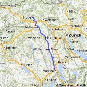 rcn 77 - Etappe 2 (Rotkreuz–Brugg)