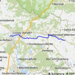 [D10] Elberadweg [Abschnitt K] Dessau-Roßlau - Elster [linkselbisch]