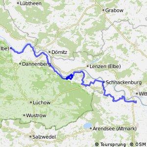 [D10] Elberadweg [Abschnitt F] Hitzacker - Wittenberge [linkselbisch]