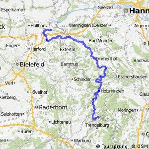 [D9] Weser-Romantische Straße [Niedersachsen/NRW: Porta - Beverungen]