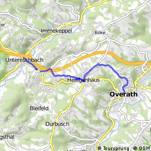 Radverkehrsnetz NRW, Overath - Untereschbach