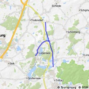 Radwegenetz Kreis Stormarn